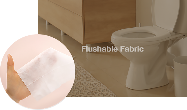 Flushable Fabric